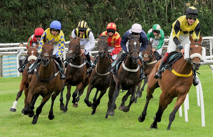 PICTURE OF THE YEAR LEANNE BOLGER CARTMEL RACES--- The 3.50pm Burlington Stone Handicap Steeple Chase Class 3. Saturday 18th July 2015 LEANNE BOLGER